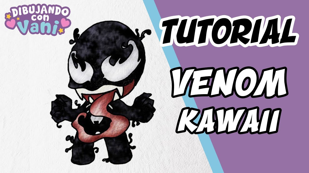How To Draw Venom Kawaii