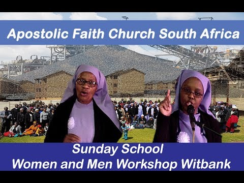 Apostolic Faith Church South Africa.Sis Mangena. Sunday School. Witbank