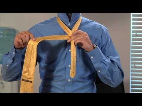 How To Tie and Dimple your Necktie (Half Windsor)