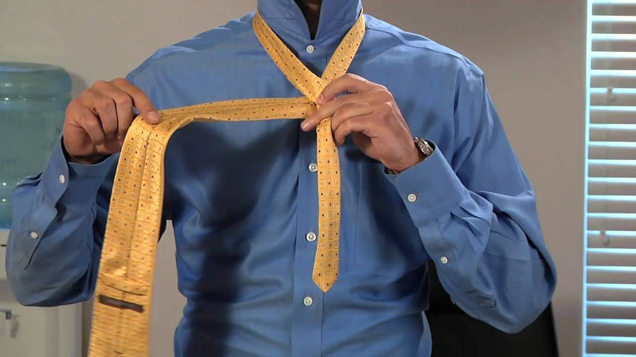 How to tie and dimple your necktie half windsor youtube ccuart Images