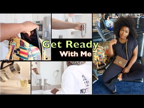 Get Ready With Me While In A Rush To The Airport