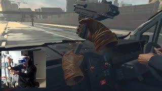 Highway Chase! BEST VR GAME HANDS DOWN!! - London Heist VR | SLAPTrain