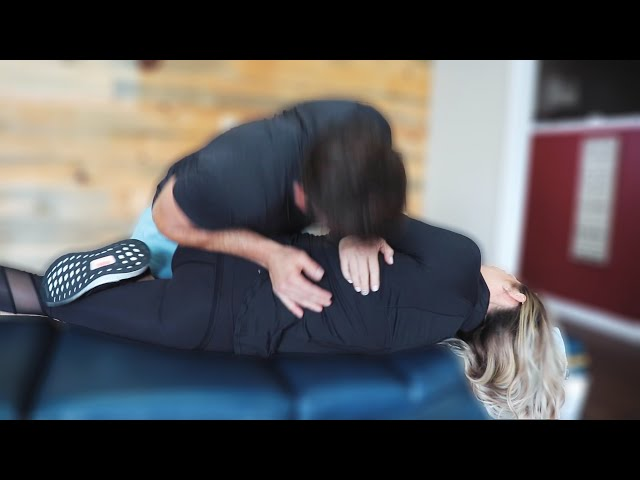 LOWBACK PAIN RELEASED FROM *HUGE* CHIROPRACTIC BACK ADJUSTMENT