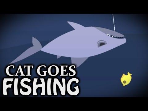 SHARK ON - Cat Goes Fishing