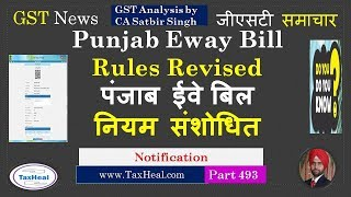 Punjab E Way bill Limit revised from 13.09.2018 : GST News 493