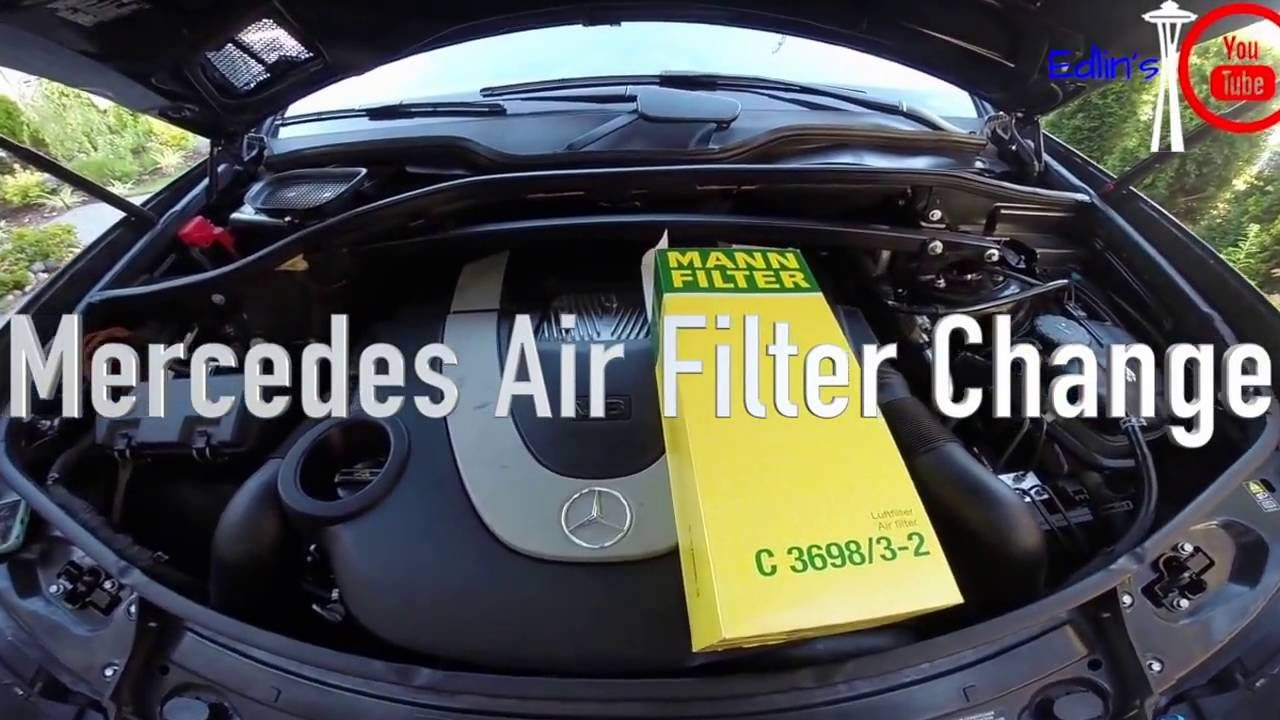 Mercedes Ml350 Engine Air Filter 2008 Ml320 Fuel Location Mercedez Benz Replacement Tutorial Youtube 1280x720