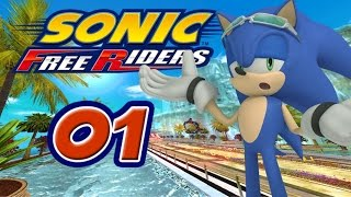 Sonic Free Riders [XBox 360] #1 - Team Heroes vs. Team Rose