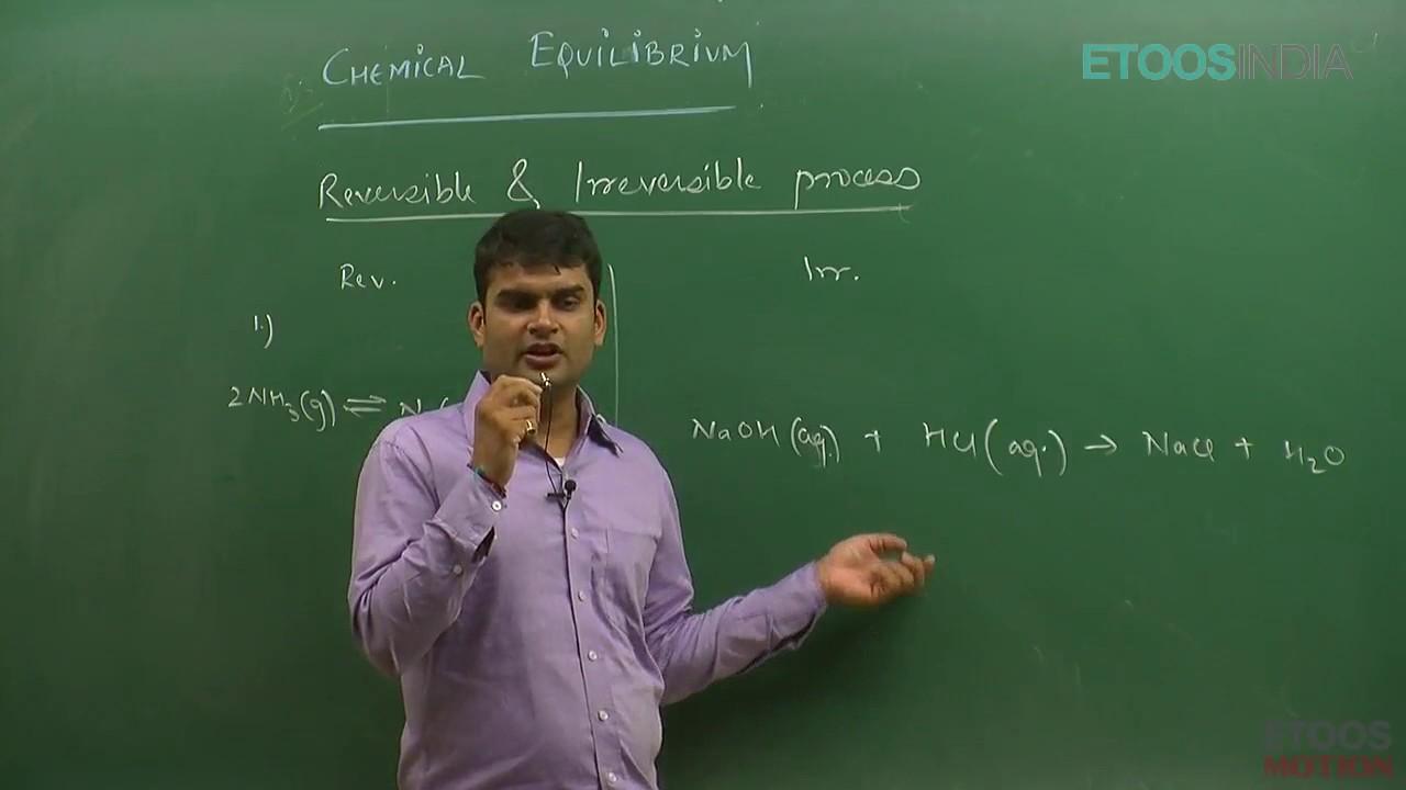 IIT JEE Main + Advanced I Chemistry I Chemical Equilibrium I SG Sir From  ETOOSINDIA COM