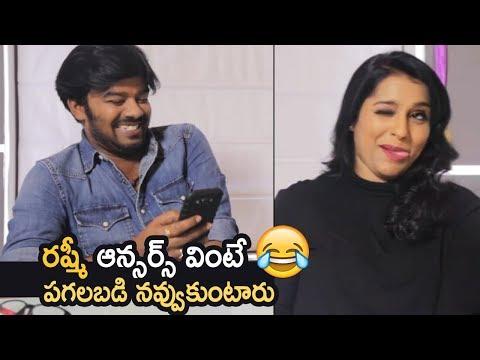 Sudigali Sudheer Super Funny Questions To Rashmi | Rashmi Superb Answers To Sudheer | Hilarious