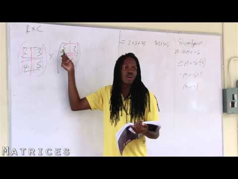 Damion Crawford CXC Mathematics   Matrices 1