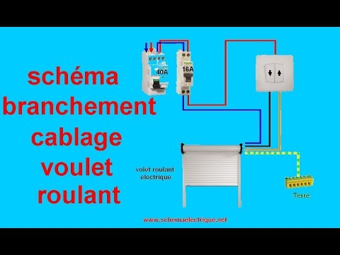 Schema branchement cablage volet roulant electrique youtube for Brancher un aspirateur de piscine