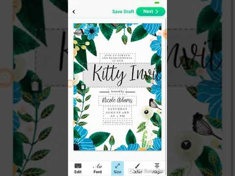 Make INVITATION ,CARDS WITH APP ON MOBILE EASILY IN 10 MINUTES