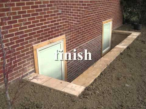 Egress basement window and walkout showroom & Egress basement window and walkout showroom - YouTube