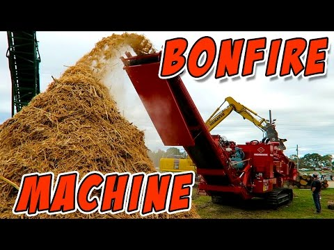 World's Largest BONFIRE MACHINE!