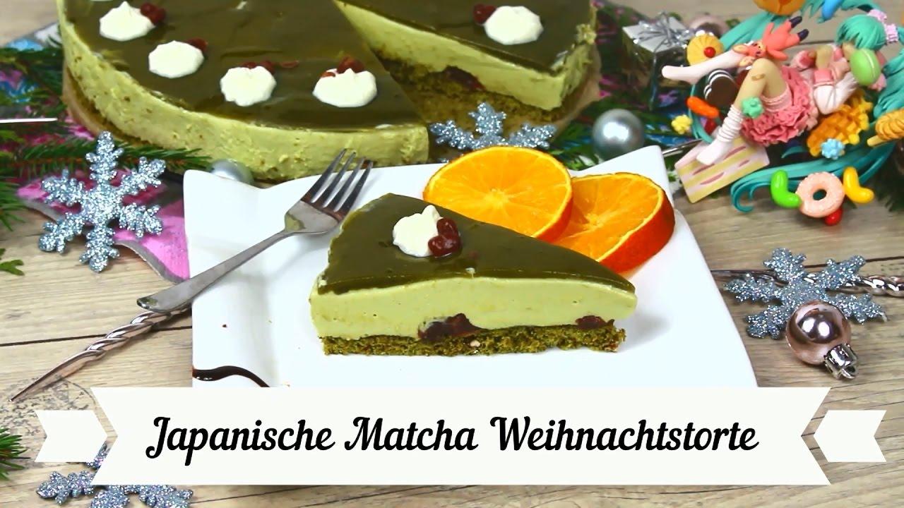 Matcha Torte Rezept Weihnachts Spezial Kurisumasu Keki Youtube