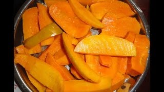 How to cut (& eat) a Indian Alphonso Mango & how to tell when it is ripe.
