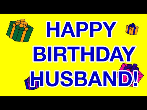 HAPPY BIRTHDAY HUSBAND birthday cards YouTube – Happy Birthday Husband Card