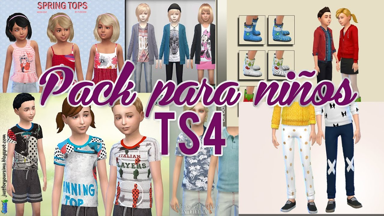Pack para ni os sims 4 julisims youtube for Cuartos para ninos sims 4