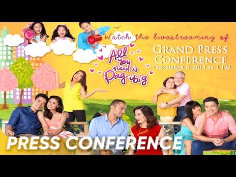 [FULL] 'All You Need Is Pag-Ibig' Grand Press Conference | December 8, 2015 | Star Cinema