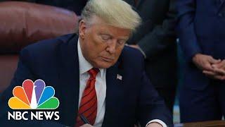 Trump Signs Coronavirus Spending Bill | NBC News (Live Stream Recording)