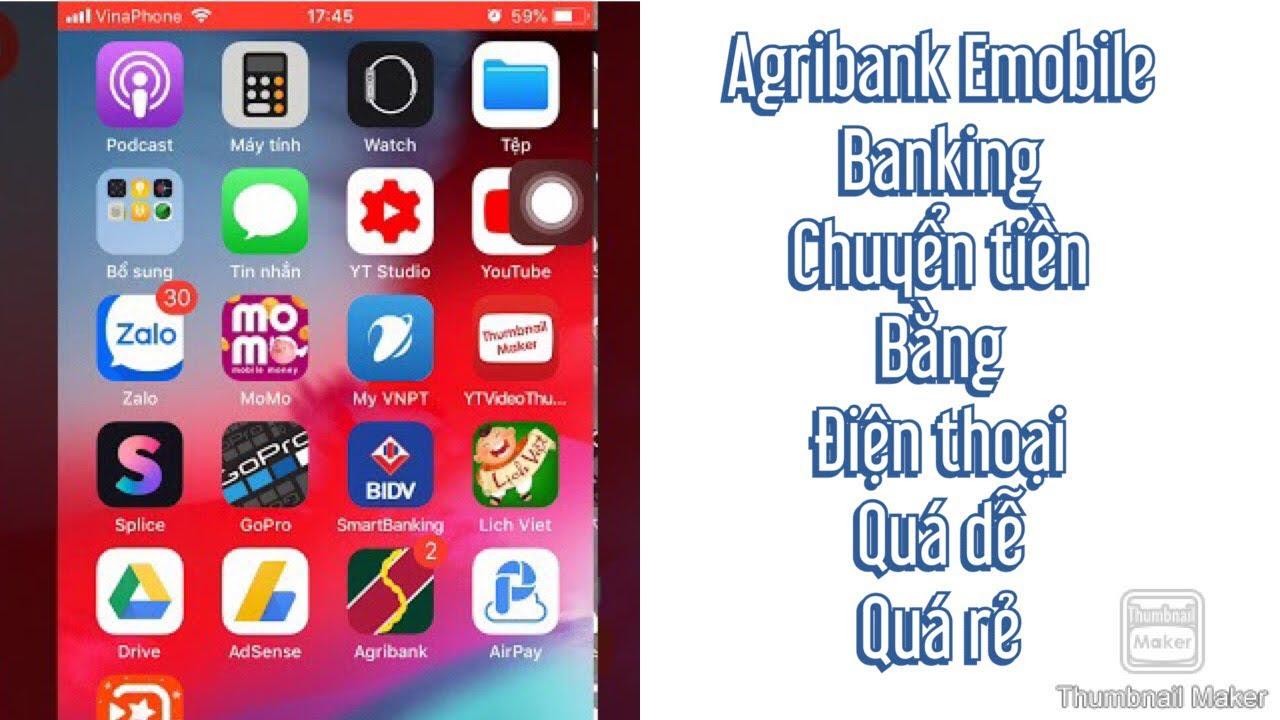 Agribank emobile : chuyển tiền bằng điện thoại