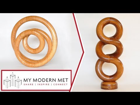 Spiraling Wood Sculptures by Cameron Porter / Cammie's Garage