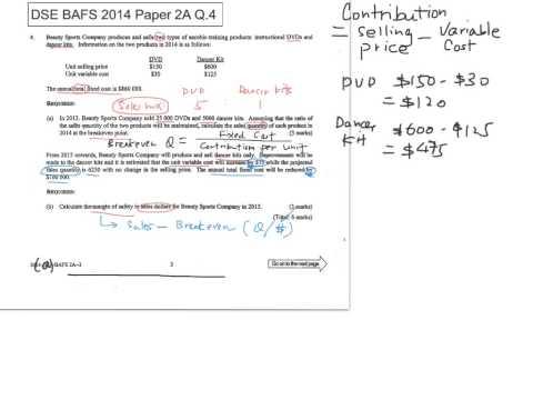 2014 BAFS Paper 2A Q 4 YouTube