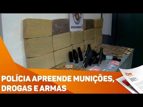 Polícia apreende munições, drogas e armas - TV SOROCABA/SBT