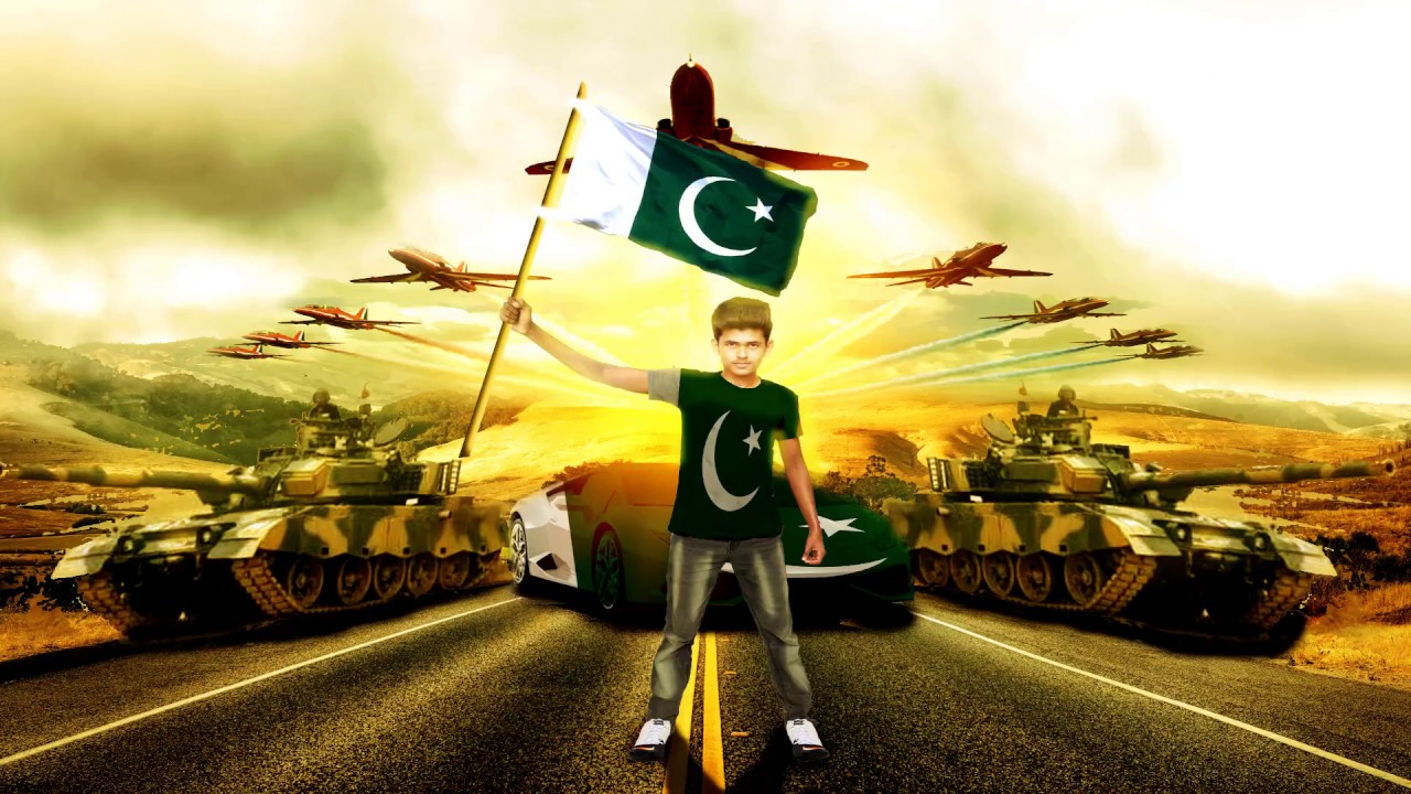 Photo Editing for Pakistan Independence Day 14 August In Photoshop 7 0