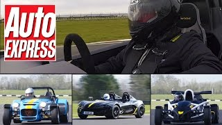 Caterham 7 620R vs Zenos E10 R vs Ariel Atom 3.5R: track car face-off
