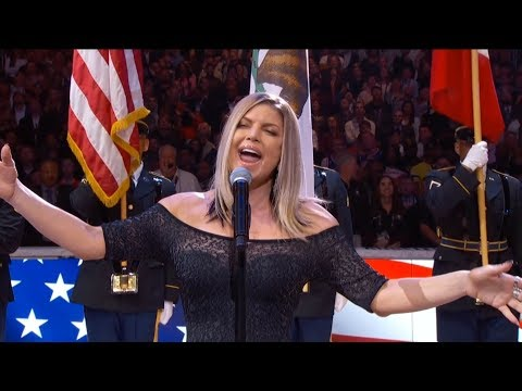 Fergie Performs The US National Anthem  2018 NBA AllStar Game