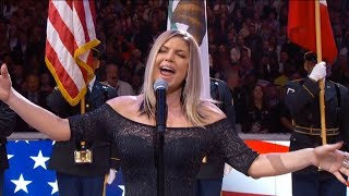 Fergie Performs The Us National Anthem 2018 Nba All Star Game