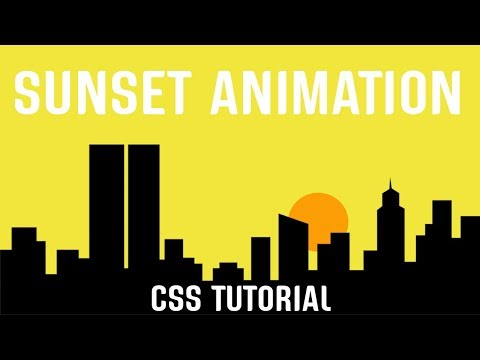 Sunset Animation CSS | Pure CSS Tutorial.