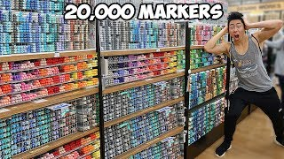 NO BUDGET AT THE ART STORE SHOPPING SPREE!! (Worlds Biggest Art Store)