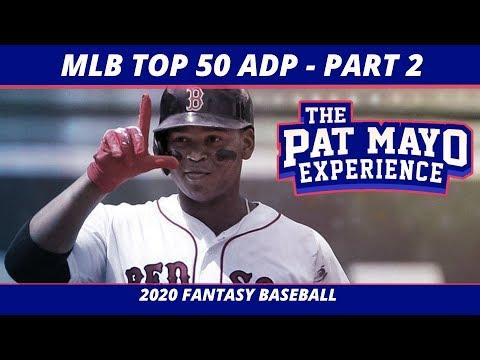 2020 Fantasy Baseball Rankings — Overall Player Rankings, Average Draft Position 20-50