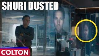 Shuri is missing in Avengers Endgame