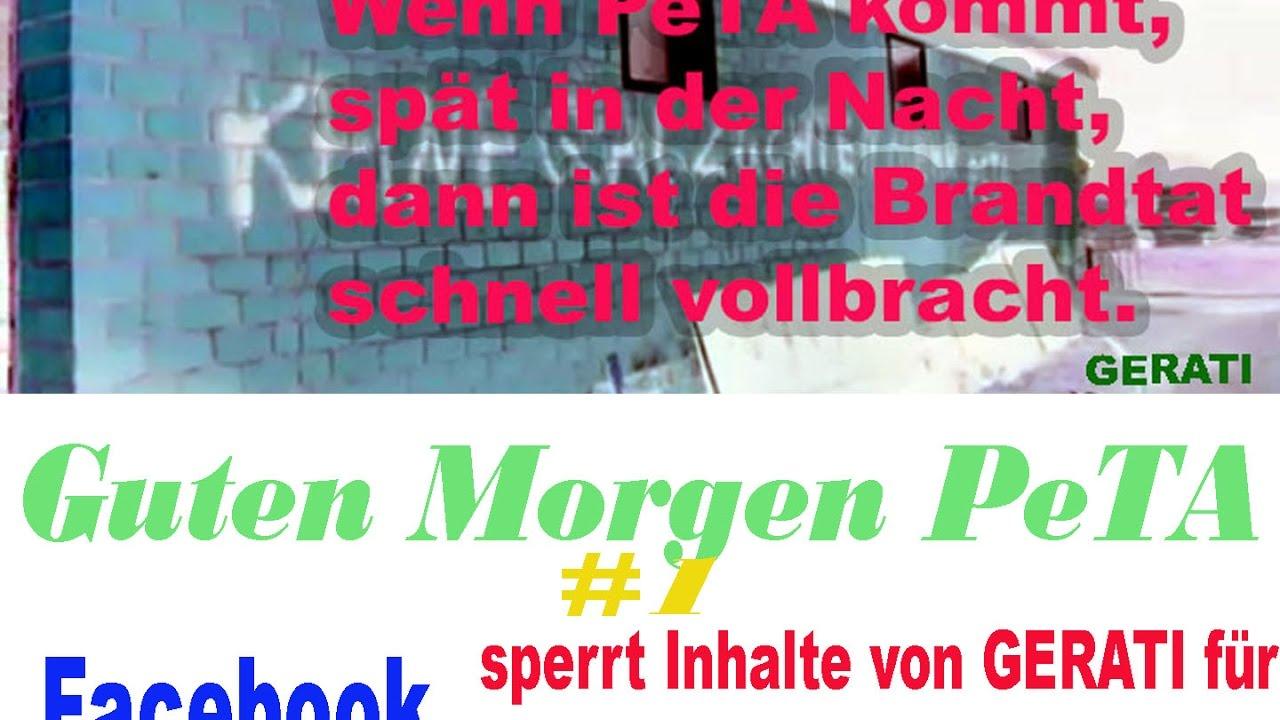 Guten Morgen Peta 1 Facebook Sperrt Inhalte Von Gerati Für Deutschland