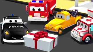 La Super Patrulla: camión de bomberos y patrulla de policía, el Cumpleaños de Mat en Auto City