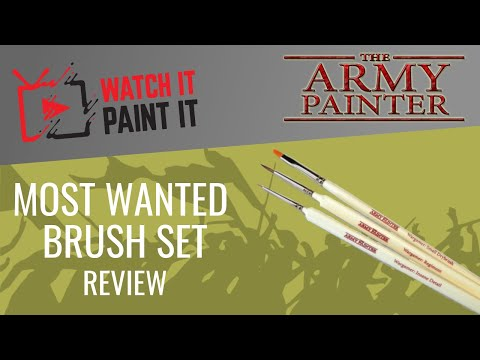 Brush Review - Army Painter Most Wanted Brush Set