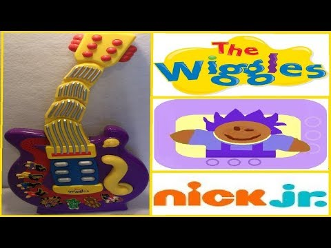 2004 Disney The Wiggles Musical Wiggling Toy Guitar By Spin Master
