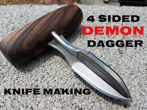 Knife Making - 4 Sided Demon Dagger Knife