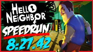 Hello Neighbor Speedrun Any% WR (8:27)