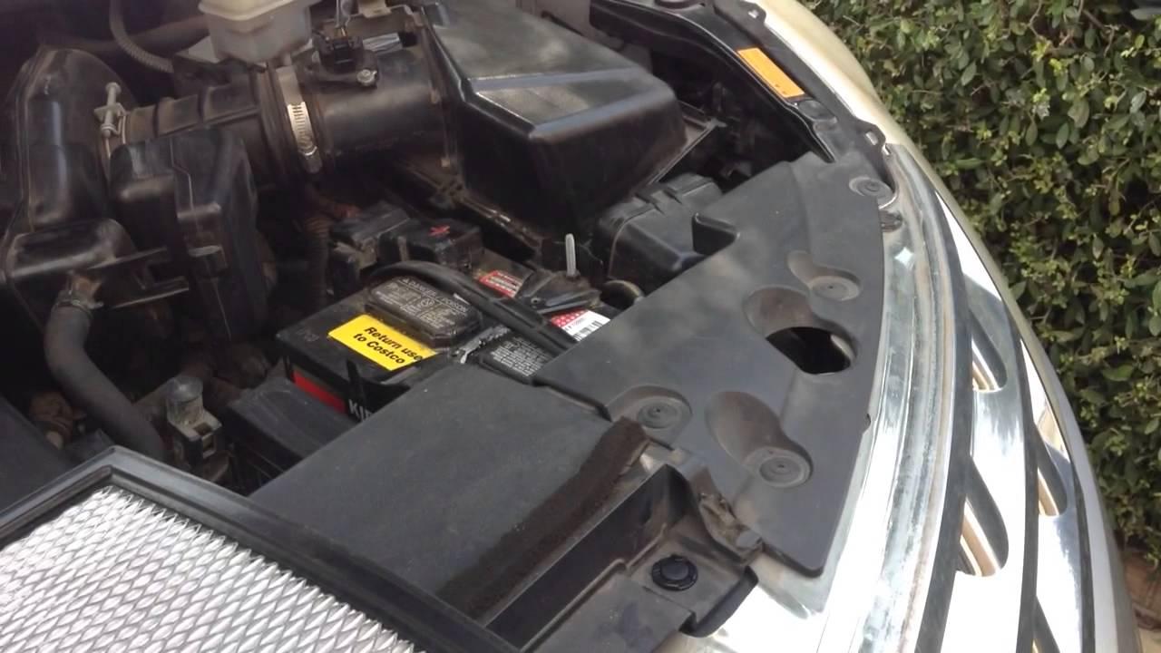2003 nissan murano fuel filter location
