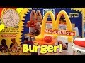 Make Mini Hamburgers!  McDonald's Happy Meal Magic Hamburger Snack Maker Set, 1993 Mattel Toys