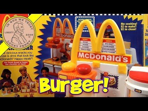 make-mini-hamburgers!-mcdonald's-happy-meal-magic-hamburger-snack-maker-set,-1993-mattel-toys