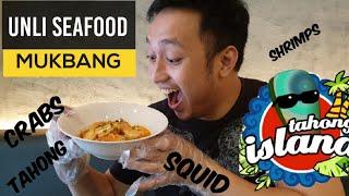 MUKBANG - UNLI SEAFOOD - TAHONG ISLAND FOOD REVIEW