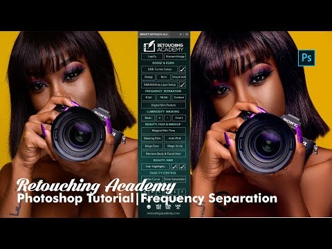 Retouching Academy - Beauty Retouch Panel - (Photoshop Frequ