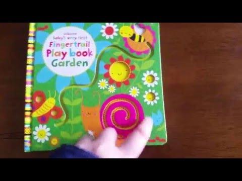 Baby's Very First Fingertrail Playbook Garden: Usborne Books & More