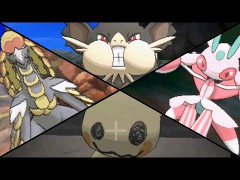 Pokemon Sun & Moon - All Island Challenge Trials & Totem Pokemon