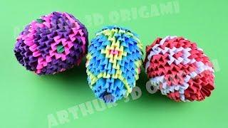 Easter egg hunt ♡ 3D Origami ♡ DIY How to make an Easter egg